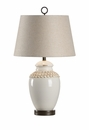 Vietri Aged Cream Ceramic Salerno Table Lamp