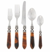 Vietri Aladdin Five-Piece Place Setting Tortoiseshell-Antique