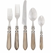 Vietri Aladdin Taupe Five-Piece Flatware Place Setting