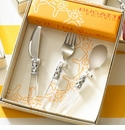Vietri Bambini 3 Piece Childrens Flatware Set - Clear