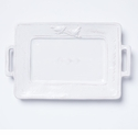 Vietri Bellezza Stone White Handled Rectangular Platter