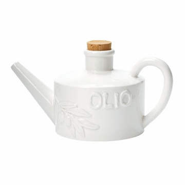 Vietri Bianco Handled Olive Oil Can