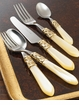 Vietri Brilliant Ivory Flatware Placesetting