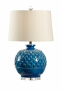 Vietri Carlotta Lamp - Hand Sculpted Ceramic Indigo Blue Base