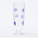 Vietri Drop Champagne Glass - Blue