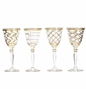Vietri Elegante Assorted Wine Glasses (4)