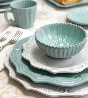 & Vietri Incanto Aqua Baroque Dinnerware - Save 20%