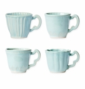 Vietri Incanto Stone Aqua Assorted Mugs - Set of 4