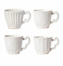 Vietri Incanto Stone Linen Assorted Mugs - Set of 4