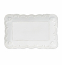 Vietri Incanto Stone White Lace Small Rectangular Platter
