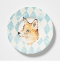 Vietri Into the Woods Fox Round Rimmed Platter