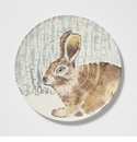 Vietri Into the Woods Hare Round Platter