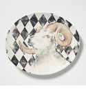 Vietri Into the Woods Ram Oval Platter
