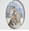 Vietri Into the Woods Wolf Oval Platter