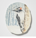 Vietri Into the Woods Woodpecker Oval Platter