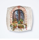 Vietri Landscape Wall Plates Closed Window Wall Plate