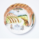 Vietri Landscape Wall Plates Inside Looking Out Round Wall Plate