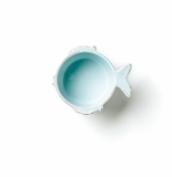 Vietri Lastra Fish Aqua Condiment Bowl