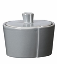 Vietri Lastra Gray Sugar Bowl