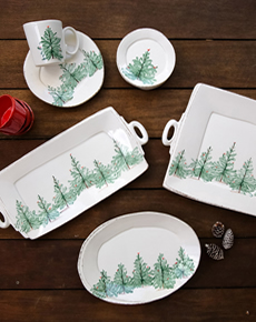 & Vietri Lastra Holiday Dinnerware