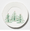 Vietri Lastra Holiday European Dinner Plate