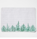 Vietri Lastra Holiday Green & White Striped Reversible Placemat