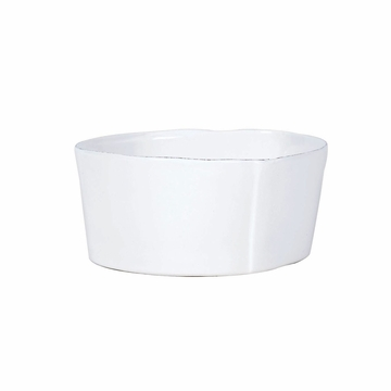 Vietri Lastra White Cereal Bowl