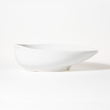 Vietri Lastra White Large Oval Bowl