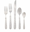 Vietri Martellato Stainless Flatware 5 Piece Place Setting