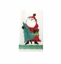 Vietri Old St. Nick 16 pack Paper Guest Towel - Green