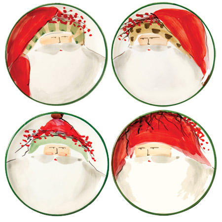 Vietri old st nick assorted canape plates for Decoration canape