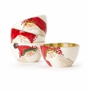 Vietri Old St. Nick Assorted Cereal Bowls