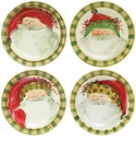 "Vietri Old St. Nick Assorted Dinner Plates Set of 4 - 10.75"" D"