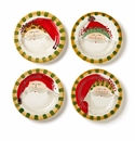 Vietri Old St. Nick Assorted Round Salad Plates (4)