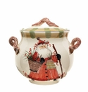 Vietri Old St. Nick Biscotti Jar