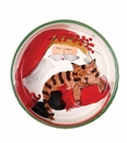 Vietri Old St. Nick Cat Bowl