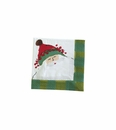Vietri Old St Nick Cocktail Paper Napkin - Green