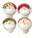 Vietri Old St. Nick Cork Stopper (Designs are Assorted)