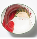 Vietri Old St. Nick Deep Oval Bowl with Face