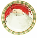 Vietri Old St. Nick Dinner Plate - Red