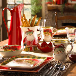 Vietri Old St. Nick Holiday Dinnerware and Bakeware