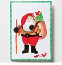 Vietri Old St. Nick Gift Sack Greeting Card