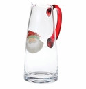 Vietri Old St. Nick Glass Pitcher