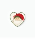 Vietri Old St Nick Heart Plate