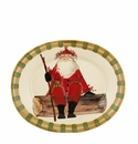 "Vietri Old St. Nick Large Oval Platter 20"" L, 16"" W"