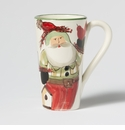 Vietri Old St. Nick Latte Mug with Birds Boxed