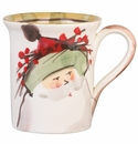 Vietri Old St. Nick Mug - Green