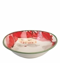 Vietri Old St. Nick Oval Bowl - Red