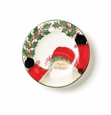 Vietri Old St. Nick Rimmed Round Wall Plate