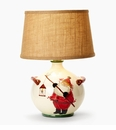 Vietri Old St Nick Round Lamp